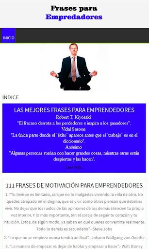Frases para emprendedores