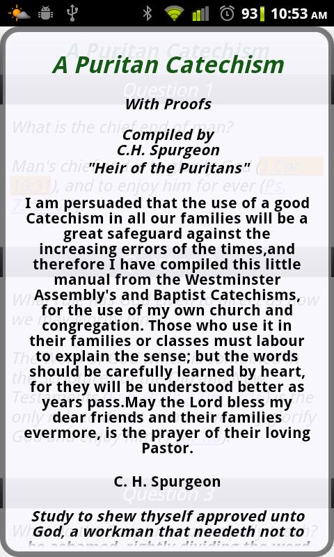 A Puritan Catechism- screenshot