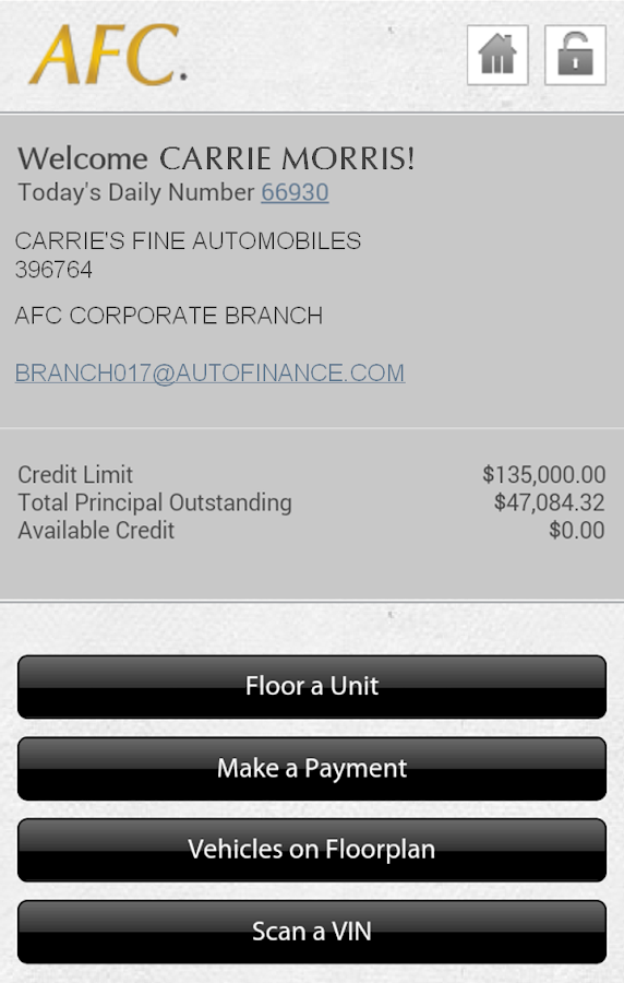 AFC on the Go - screenshot