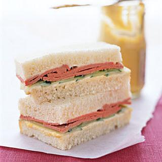 Liverwurst Tea Sandwiches.