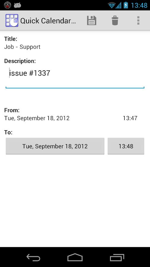 Quick Calendar Appointment - screenshot