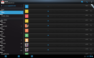 Screenshot of CM 10.2 - Blue Lime Theme Free