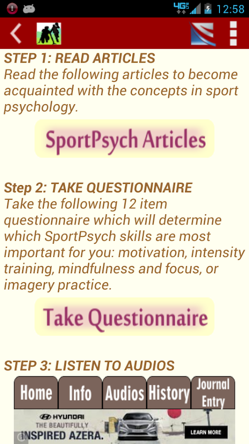 SportPsych Performance Coach - screenshot