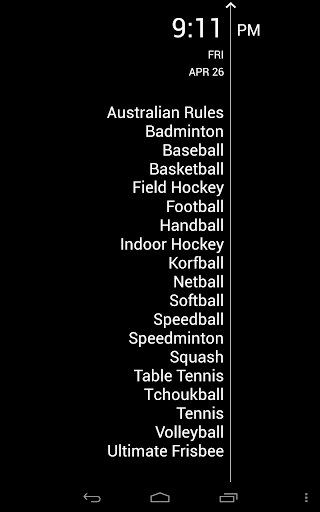 Sports Rules - Pocket Guide