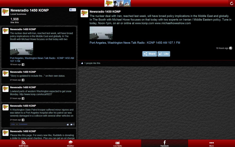 Newsradio KONP- screenshot