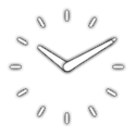 Analog clock widget logo