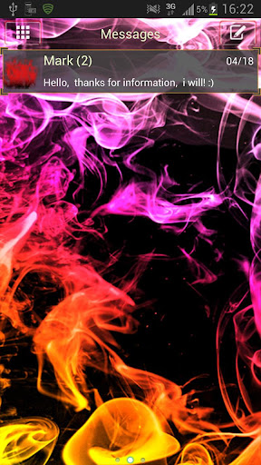 GO SMS Theme Smoke Colors Buy