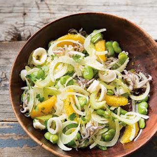 Squid Salad with Oranges, Fava Beans & Fennel