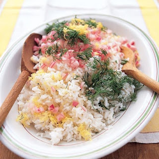 Rice Salad with Lemon, Dill, and Red Onion.