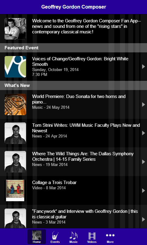 Geoffrey Gordon Composer - screenshot