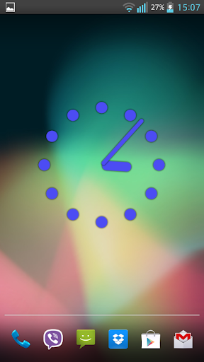 Neon Dots Clock Widget