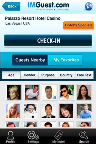 IMGuest - Hotel Social Network- screenshot