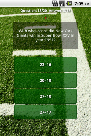 Quiz about Super Bowl