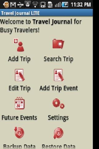 Travel Budget & Event Journal- screenshot