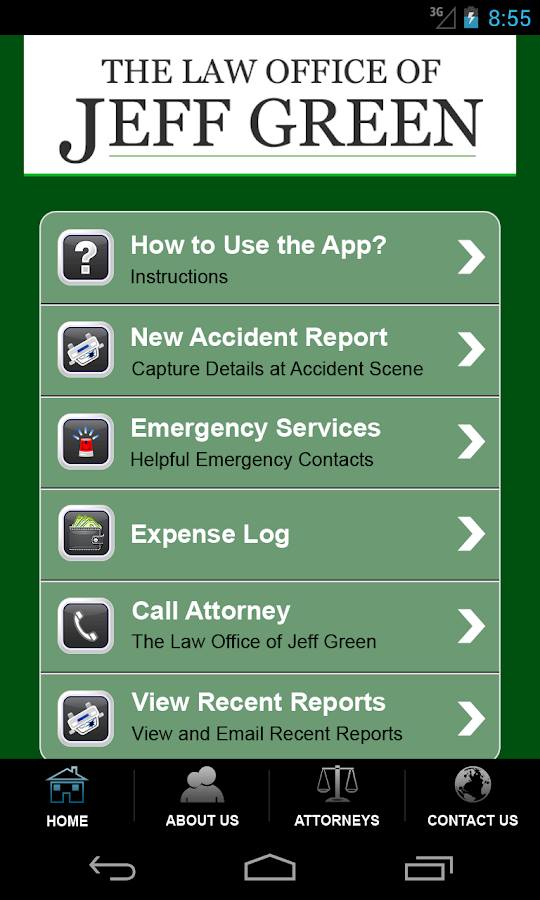 Accident App by Jeff Green Law- screenshot