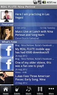 REAL FLUTE: Nina Perlove - screenshot thumbnail