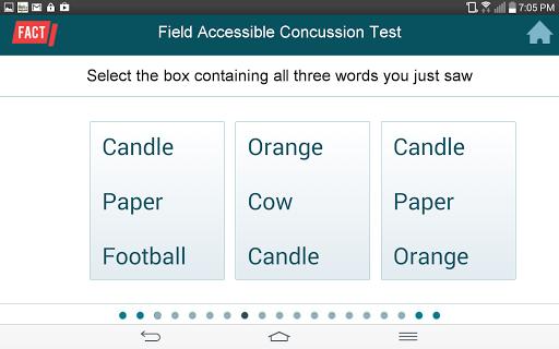 FACT Concussion Test