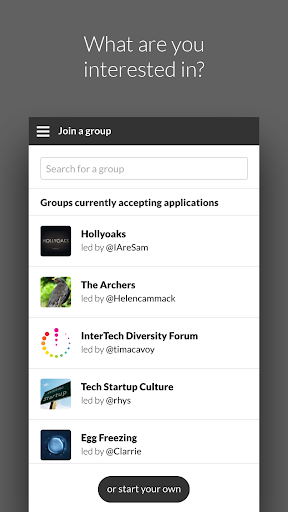 Interests - Discussion Groups