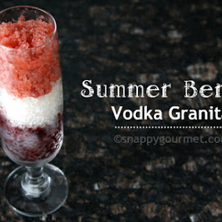 Summer Berry Vodka Granita.