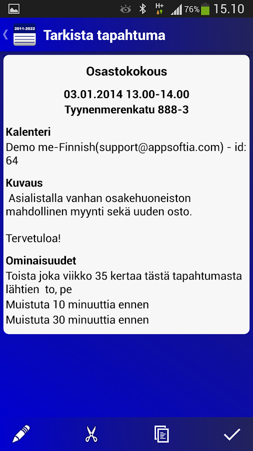 Suomalainen Kalenteri - screenshot