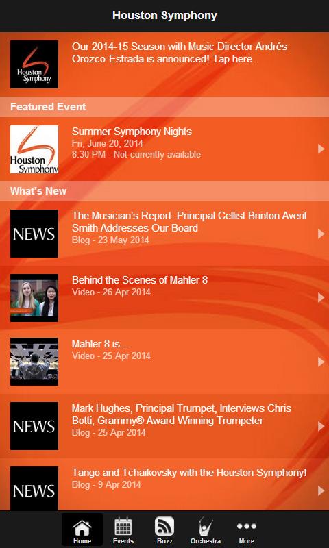 Houston Symphony - screenshot