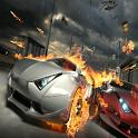 Speed racing car icon