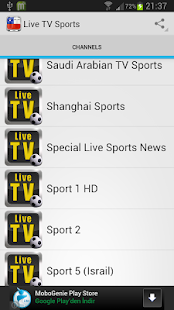 Live TV Sport - screenshot thumbnail
