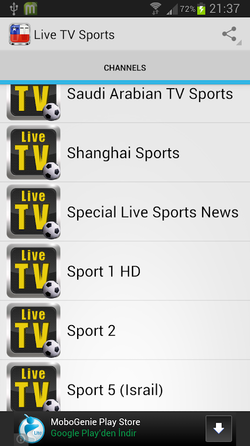 Live TV Sport - screenshot