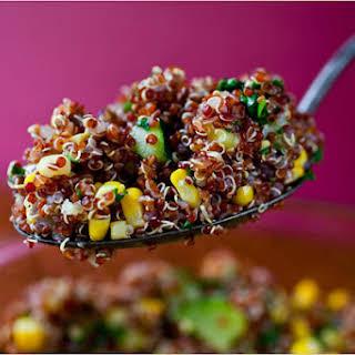 Quinoa With Corn and Zucchini.