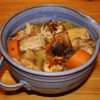 Pork Belly, Apple and Vegetable Stew with Apple Cider.