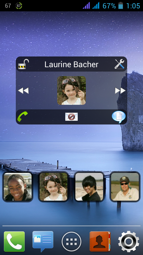 Easy Contact Widget – Capture d'écran