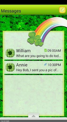 LuckyClover GO SMS THEME