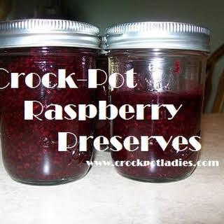 Crock-Pot Raspberry Preserves.