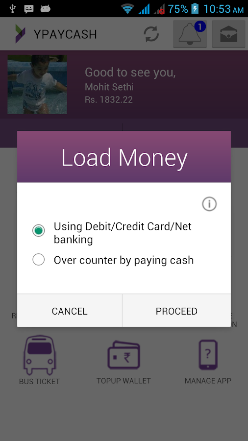 YPAYCASH Mobile Wallet- screenshot