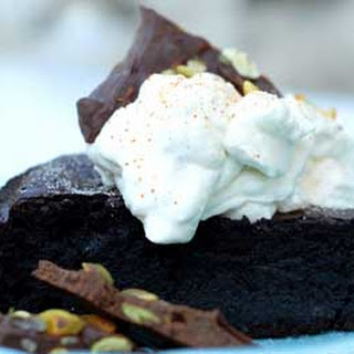 Gluten Free Mexican Chocolate Cake with Cinnamon Whipped Cream.