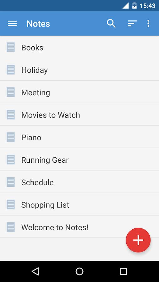 Notes- screenshot