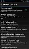 Screenshot of Hidden Lock