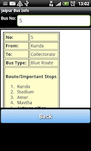 Jaipur Bus Info - screenshot thumbnail