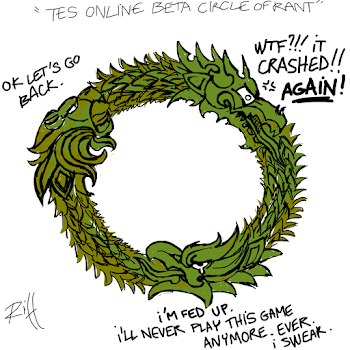 The Elder Scroll Online Beta circle of rant