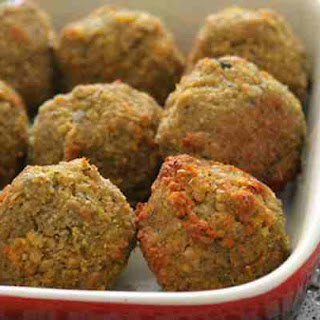 Baked Curry and Mint Falafels.
