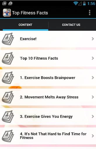 玩免費健康APP|下載Top Fitness Facts app不用錢|硬是要APP