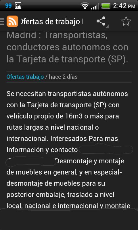 Madrid ofertas de trabajo android apps on google play - Ofertas de trabajo en madrid ...