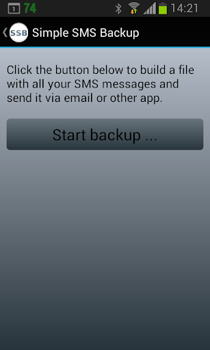 Simple SMS Backup