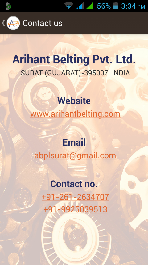 Arihant Belting Pvt. Ltd.- screenshot