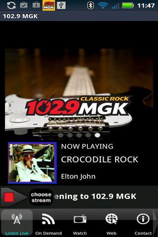 102.9 WMGK - screenshot