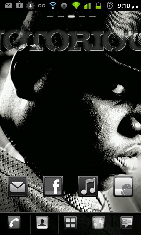 NotoriousBIG Theme - screenshot