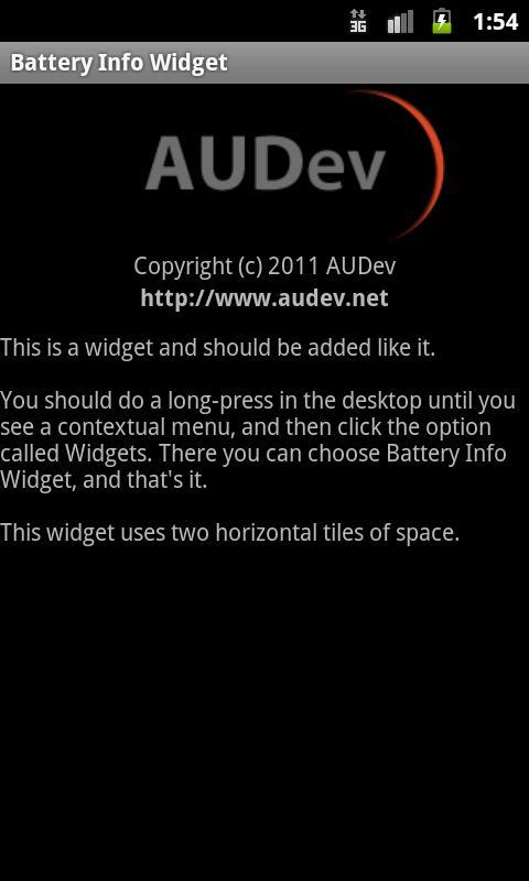 Battery Info Widget- screenshot