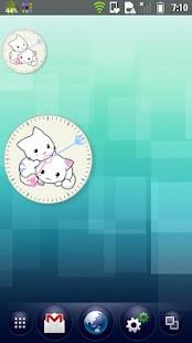 Kitten Clock Widget- screenshot thumbnail