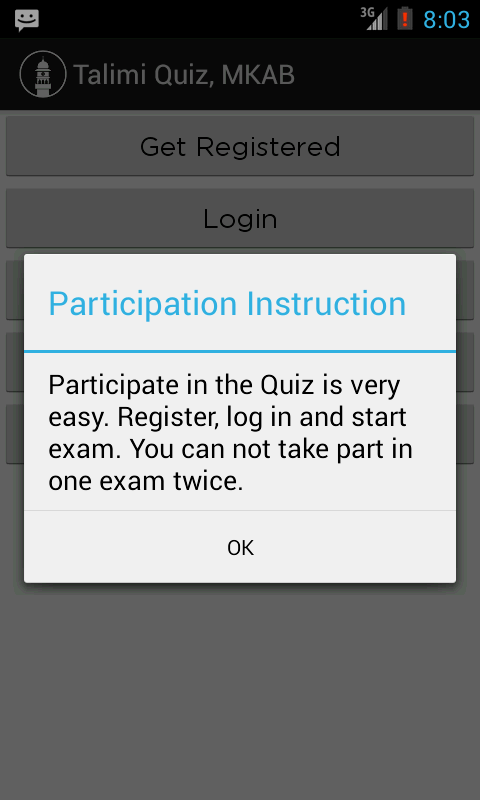 Talimi Quiz, MKAB- screenshot
