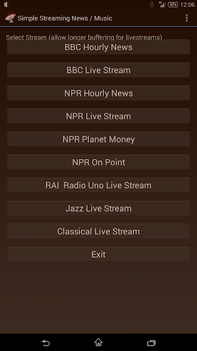 Simple Streaming News Music